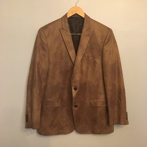 "John Varvatos ""Citywood"" Vegan Leather Blazer"